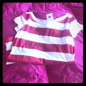 Tops - White & Red Striped Shirt